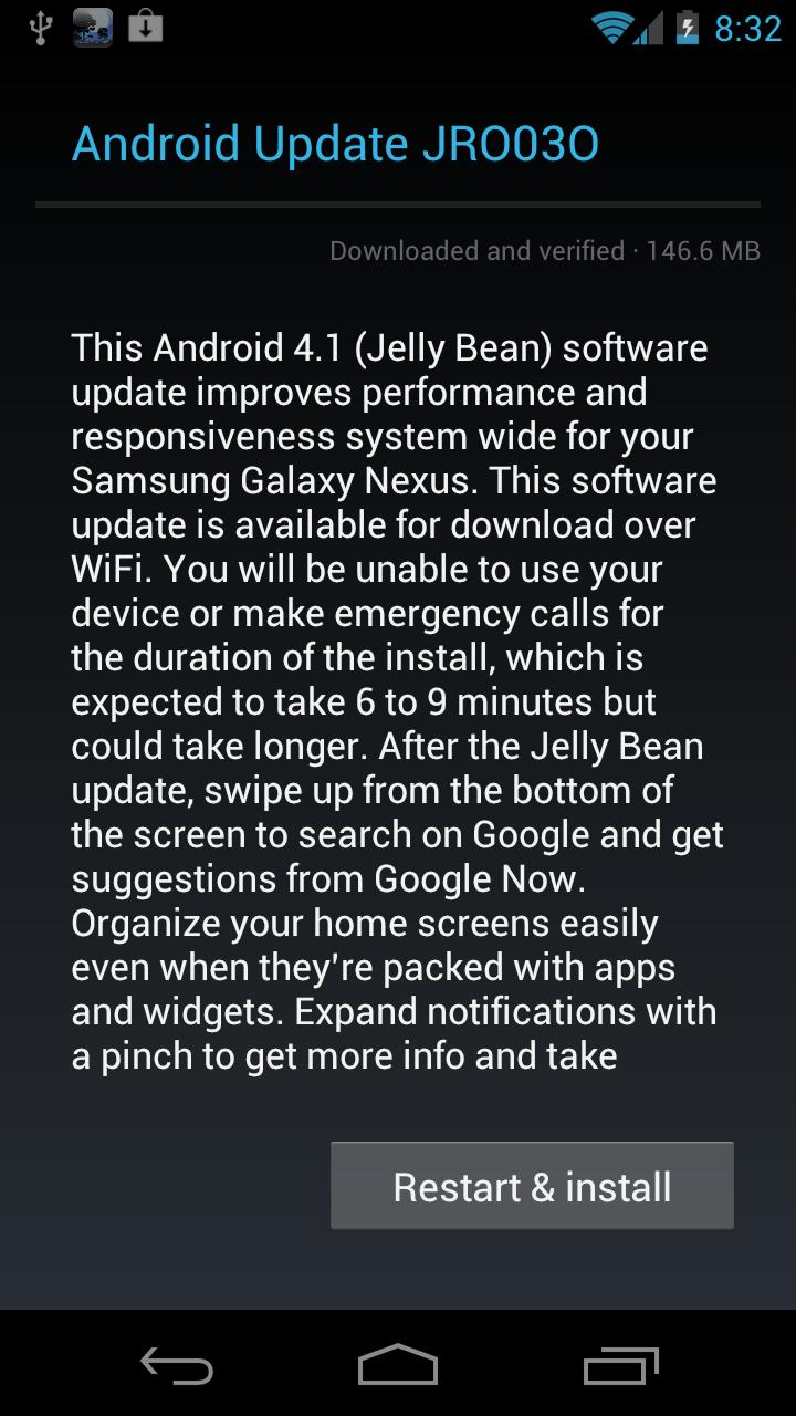 Verizon Galaxy Nexus Jelly Bean Update: First Impressions