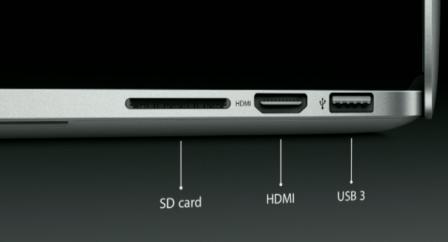 13-inch MacBook Pro with Retina Display ports 2