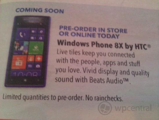 Best Buy ad Windows Phone 8X