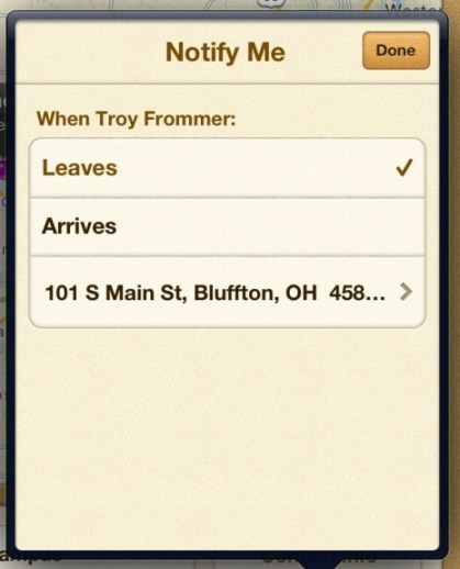 Find My Friends Notifications