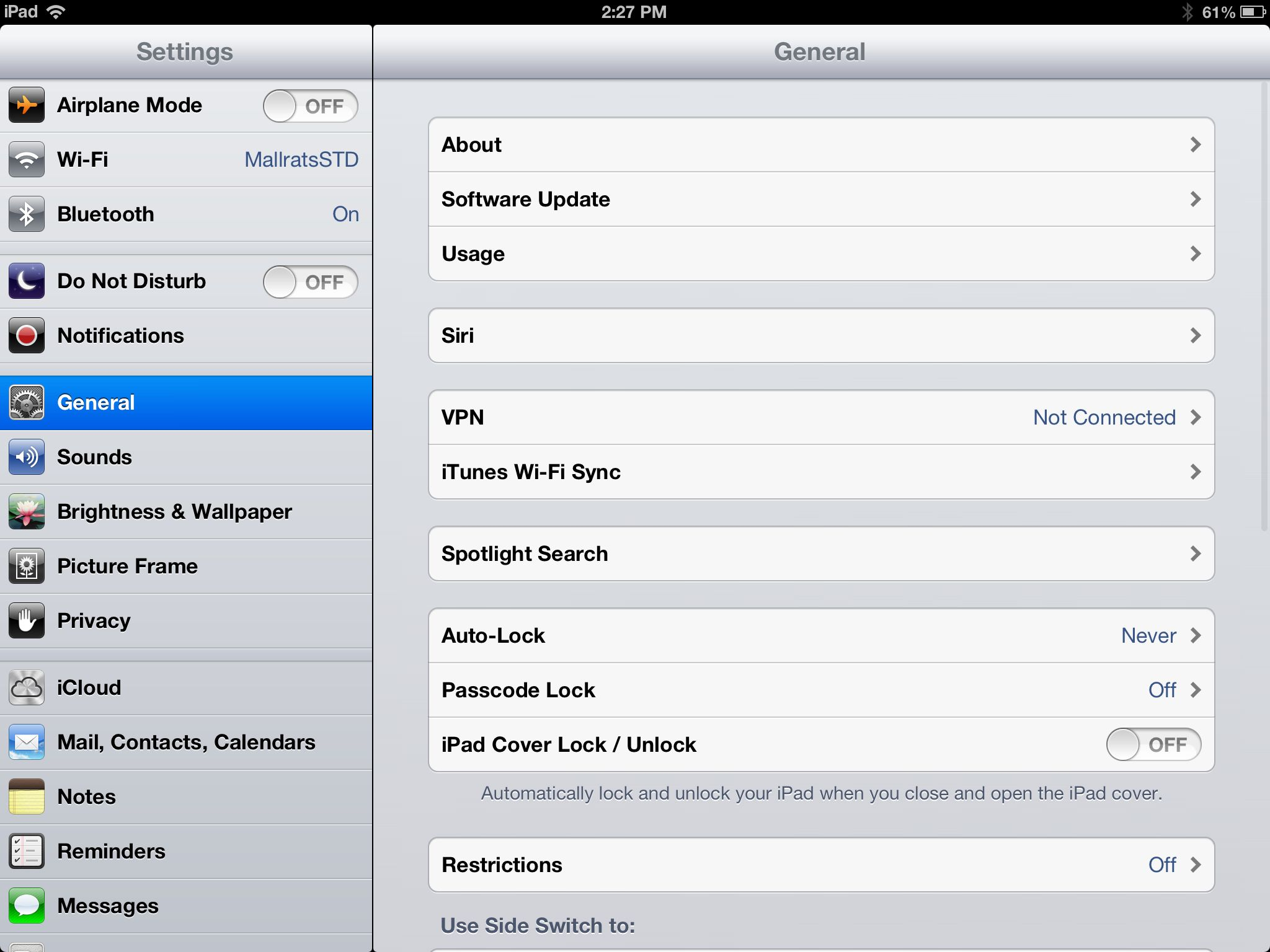 how to turn off ipad lock screen
