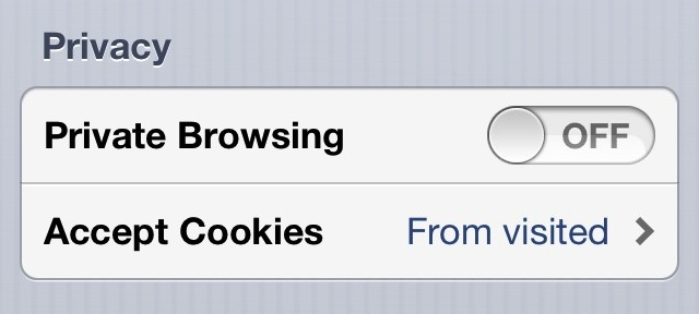 private browsing on iphone 40 ios 6 tips and tricks 5761