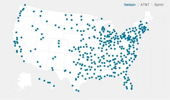 Verizon 4G LTE coverage