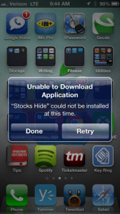 hide stock iphone apps