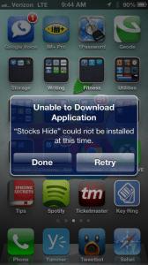 hide stock iphone apps