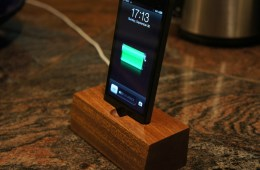 iPHone 5 wood dock on eBay