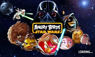 Angr Birds Star Wars main screen