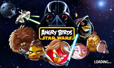 Angr Birds Star Wars main screen