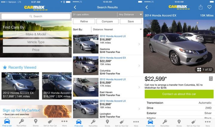 CarMax Car Buying App