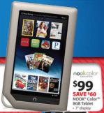 Walmart Black Friday Kindle Nook Color $99