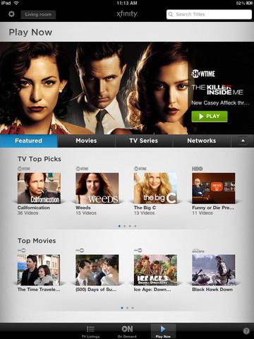 Xfinity Comcast TV for iPad