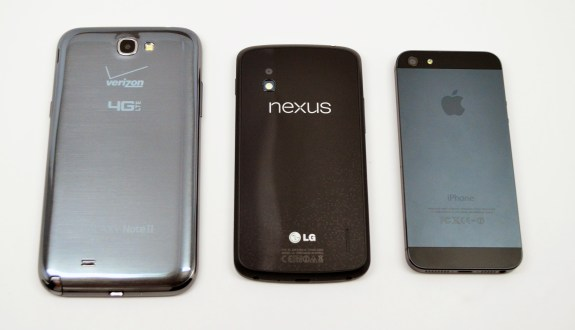 Galaxy Note 2 vs iPhone 5 vs Nexus 4 - 03