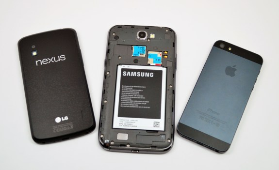 Galaxy Note 2 vs iPhone 5 vs Nexus 4 - 11
