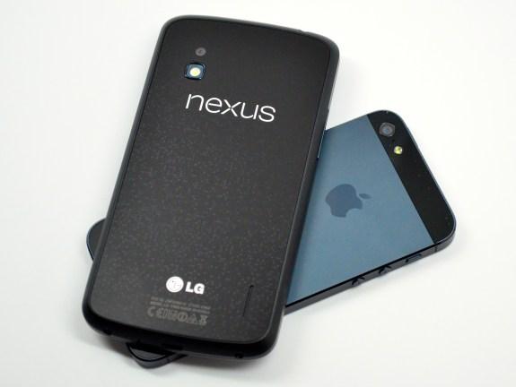 Nexus 4 vs. iPhone 5