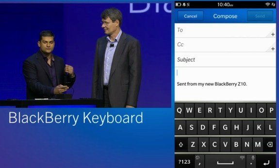 BlackBerry 10 keyboard demo