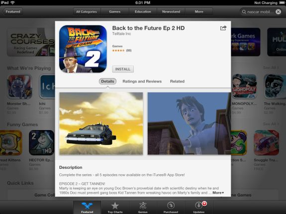 don't use purchased apps to install on iPad