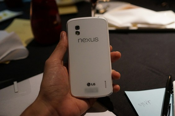 White Nexus 4 back