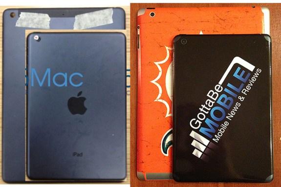 iPad 5 vs iPad mini sizes