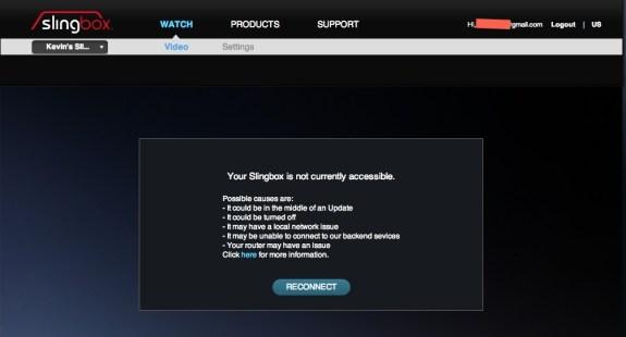 slingbox error
