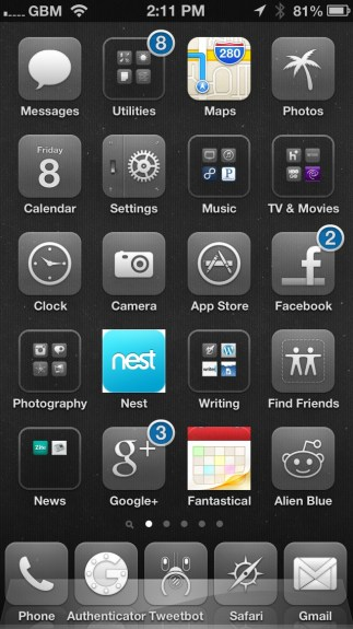 Best Cydia Themes - iOS 6 Winterboard Themes - Glasklart HD