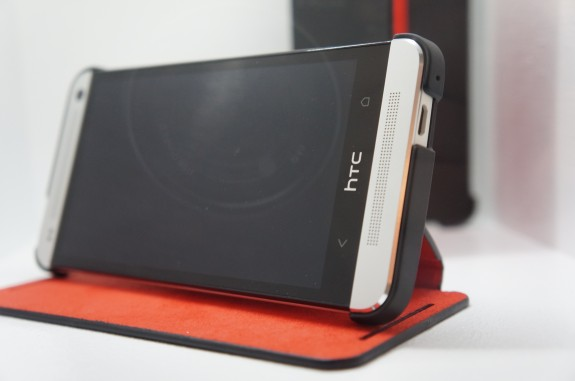 HTC One with case