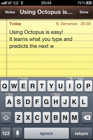 Octopus Keyboard Cydia App BlackBerry 10 Keyboard