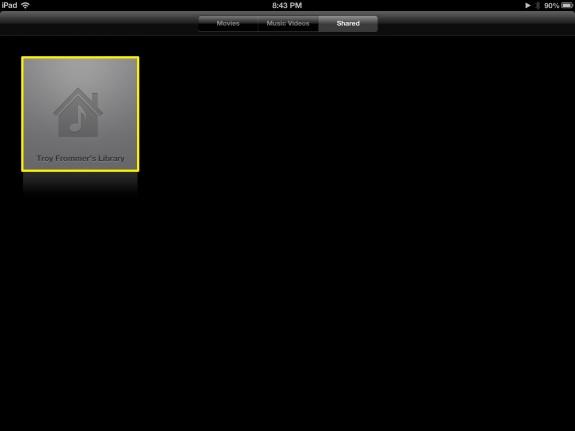 Select Library Videos (iPad)