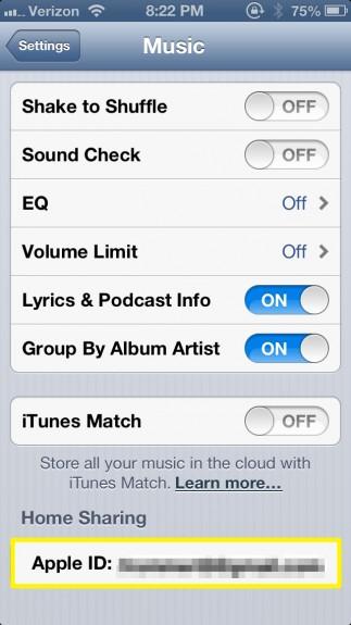 Tap Apple ID (iPhone)