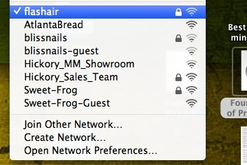 connect to the flashair like one would any wifi network