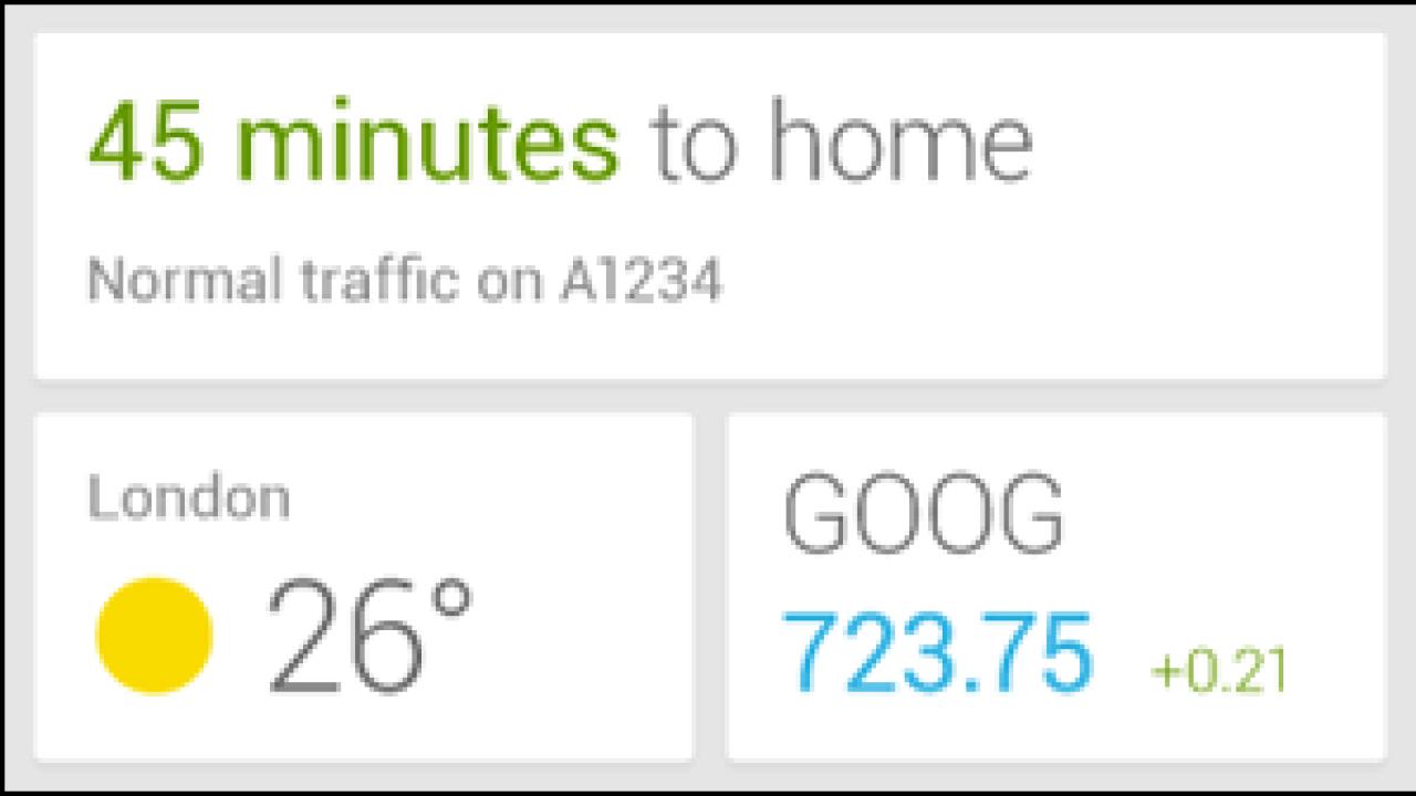 Google Now Shown Off In Widget Form