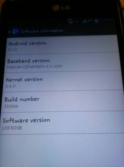 This could be the start of the Sprint LG Optimus G Jelly Bean roll out.