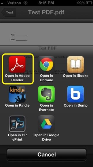 Dropbox Open In Adobe Reader