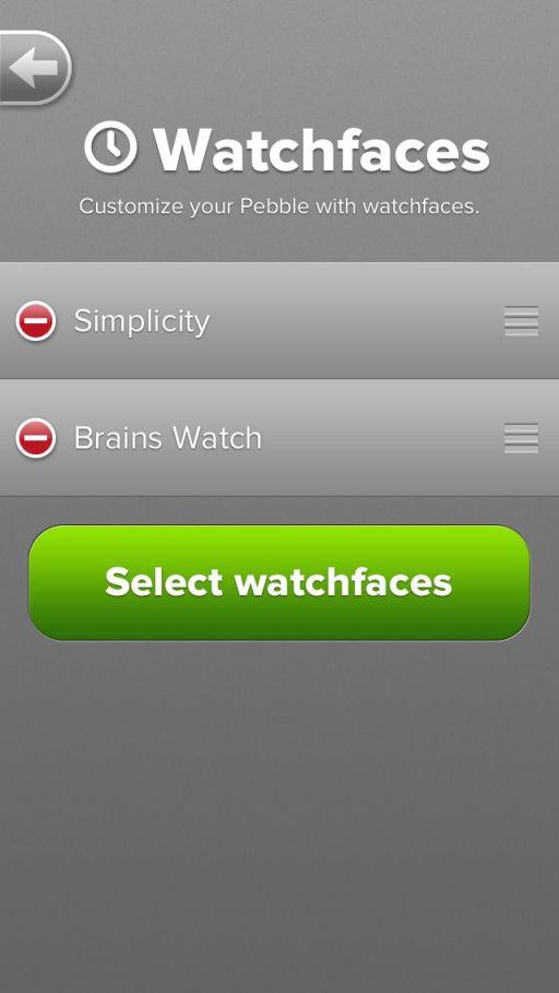ios pebble app watch faces