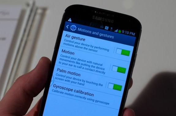 Samsung Galaxy S4 Air Gesture