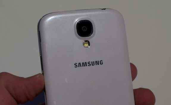 The Galaxy S4 sports a 13MP camera.