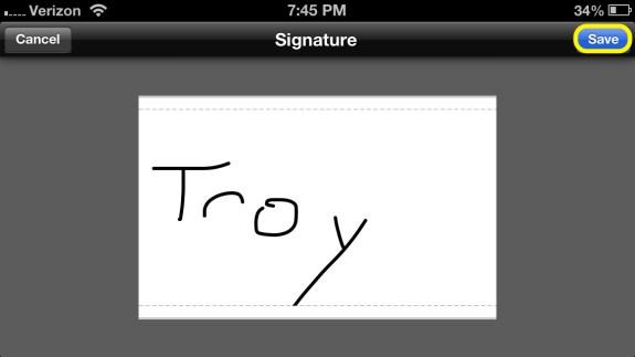 Save Signature