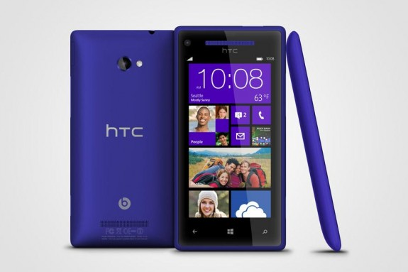 The HTC 8X running Windows Phone 8