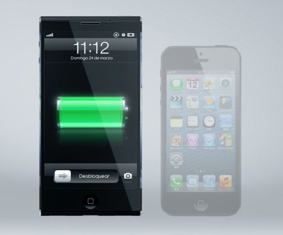 Showing this iPhone 6 concept vs an iPhone 5 for size comparison.
