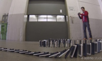 Watch a 10,000 iPhone 5 domino ad, which would cost $6.5 million without computer graphics.