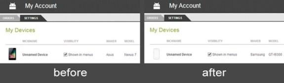 market helper device reporting