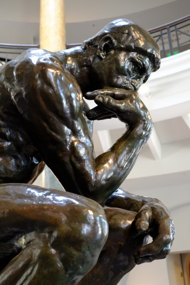 Rodin's 'The Thinker' at the Cantor Museum at Stanford.