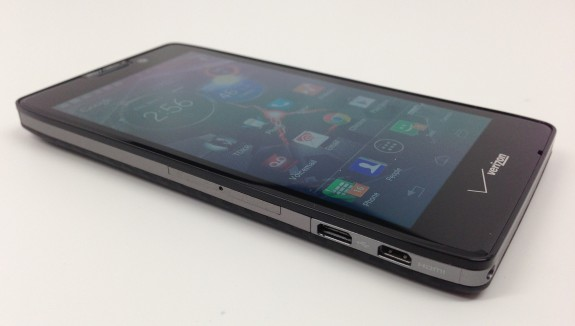 The Droid RAZR MAXX HD display is only 720p in nature.
