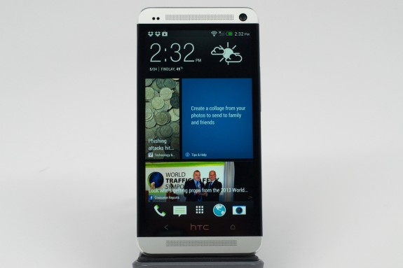 The 4.7-inch display features a 1080P HD resolution and is flanked by stereo speakers.