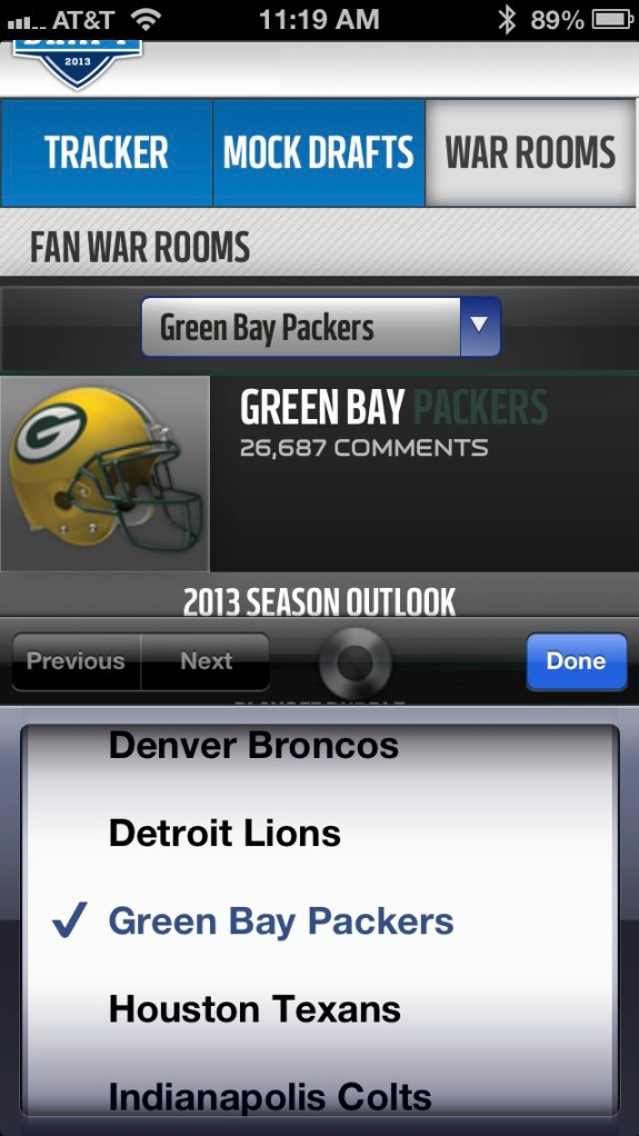 NFL Mobile Site