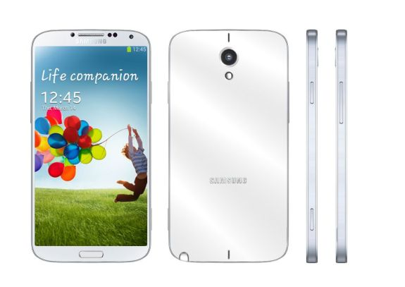 This realistic Samsung Galaxy Note 3 concept borrows from the Samsung Galaxy S4.