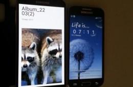 The Galaxy S4 versus the Galaxy S4 Mini, perhaps.