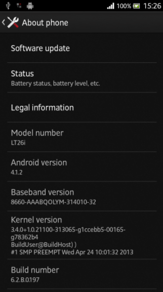 The Xperia S Jelly Bean update has leaked ahead of its release.