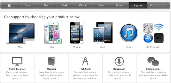 apple support site