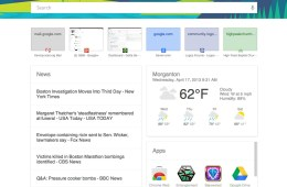 google chrome now page