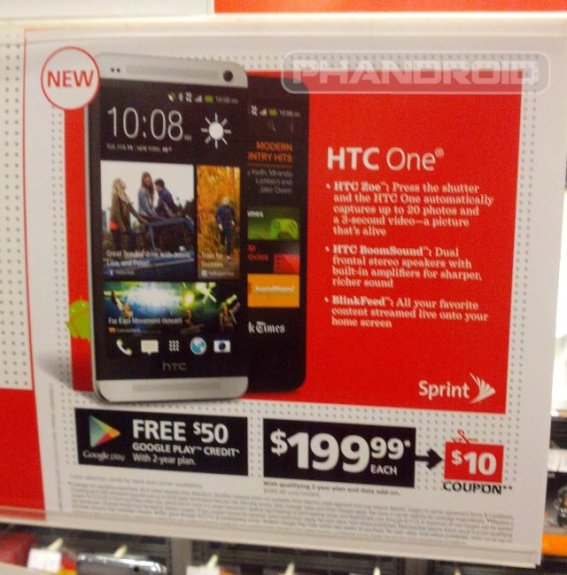 The HTC One will be sold at retailers like Radio Shack.